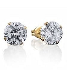 Stainless Steel 18K Micron Gold Plated Stud Earrings