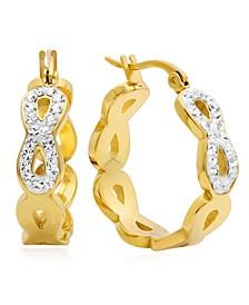 Infinity Design 18K Micron Gold Plated Hoop Earrings