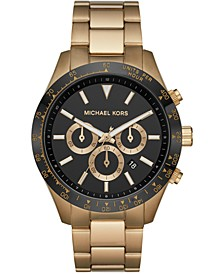 Men's Chronograph Layton Gold-Tone Stainless Steel Bracelet Watch 45mm