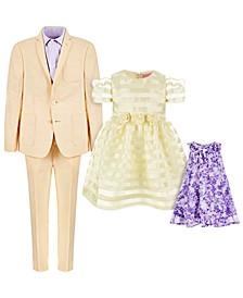 Good Lad & Blueberi Boulevard Yellow & Purple Suit & Dress Separates