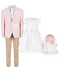 Pink and White Suit & Party Dress Separates