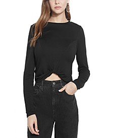ECO Vamp Solid Twist-Hem Top