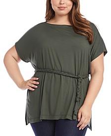 Plus Size Grecian Tunic Top