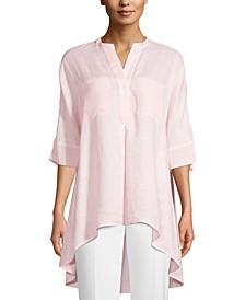 Linen Front-Pocket Tunic