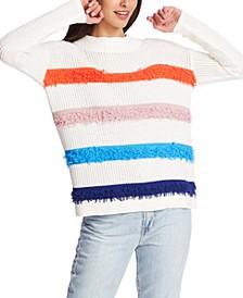 Loop Stitch Multi-Color Stripes Sweater