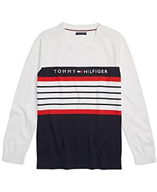 Women's Striped Sweater with Velcro® Closures at Shoulders