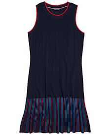 Women's Sleeveless Dress with Wide Neck Opening