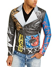 Men's Flyest Teddy Faux-Leather Moto Jacket