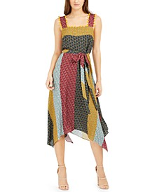 Adita Patchwork-Print Dress