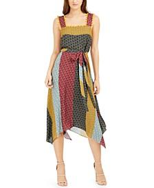 Adita Patchwork-Print Dress