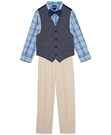 Little Boys 4-Pc. Oxford Vest Set