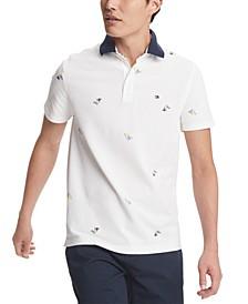 Men's Custom-Fit Joel Nautical Flag Polo Shirt