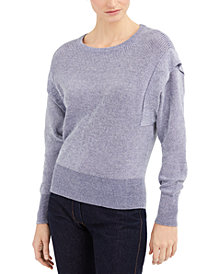 INC Acid-Wash Sweater, Created for Macy's