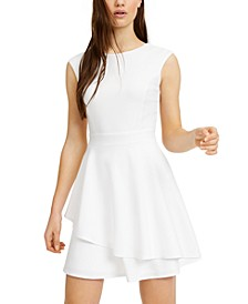 Juniors' Open-Back Fit & Flare Dress