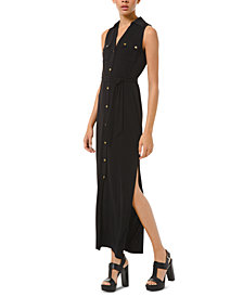 Michael Michael Kors Tie-Waist Sleeveless Shirtdress, Regular & Petite