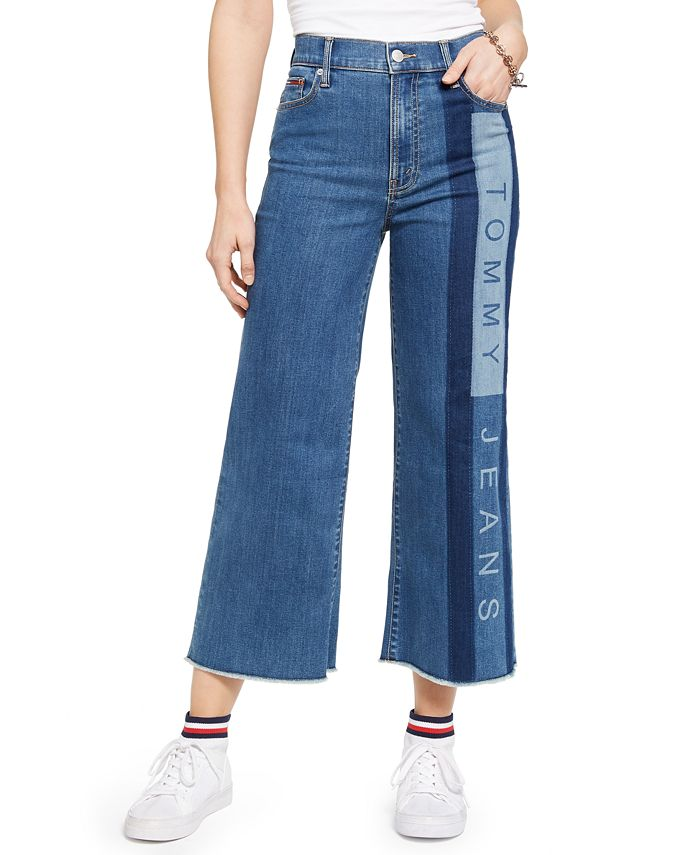 Tommy Jeans - Juniors' Cropped Wide-Leg Jeans