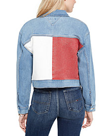 Tommy Jeans Cropped Denim Trucker Jacket