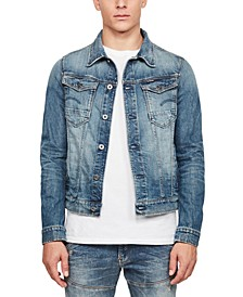 Men's Arc 3D Slim-Fit Stretch Denim Jacket, Created for Macy's