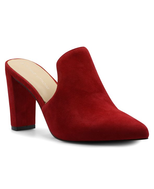Adrienne Vittadini Women's Nella Heeled Mules