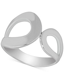 Double Open Loop Ring in Fine Silver-Plate