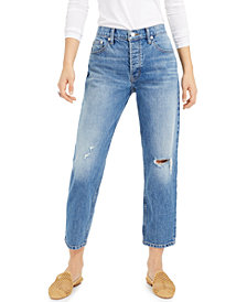 Lucky Brand Relaxed Ripped Tapered Jeans