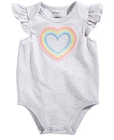 Baby Girls Rainbow Heart Bodysuit, Created for Macy's