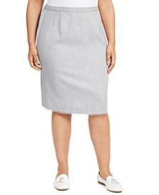 Plus Size Primrose Garden Lace-Trim Skirt