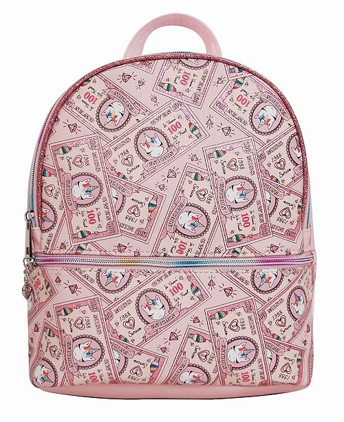 OMG! Accessories Toddler, Little and Big Kids Unicorn Printed Money Mini Backpack