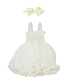Baby Girls Princess Petti Dress Headband Set