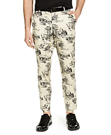INC Men's Slim-Fit Nature Drawings Pants, Created for Macy's