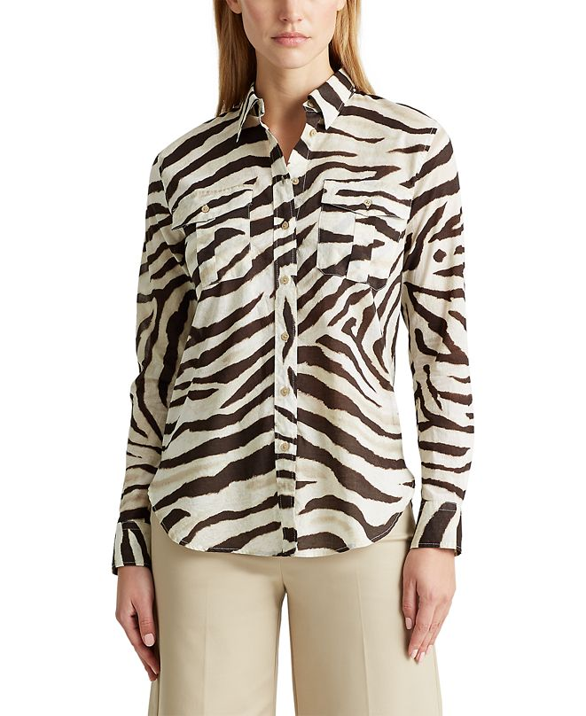 Lauren Ralph Lauren Petite Patch-Pocket Shirt