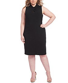 Plus Size Harland Twist-Neck Sheath Dress