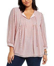 Plus Size Pintuck Top