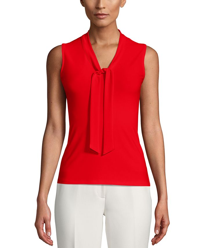 Anne Klein - Tie-Neck Top