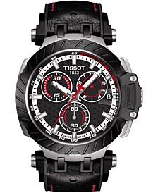 Men's Swiss Chronograph T-Race MotoGP 2020 Black Rubber Strap Watch 48mm - Limited Edition