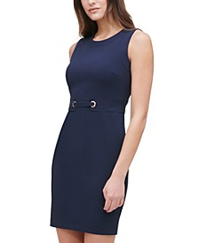 Scuba Crepe Sheath Dress