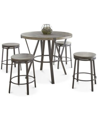 Lavonna 5-Pc. Counter Dining Set, (Counter Table & 4 Stools)