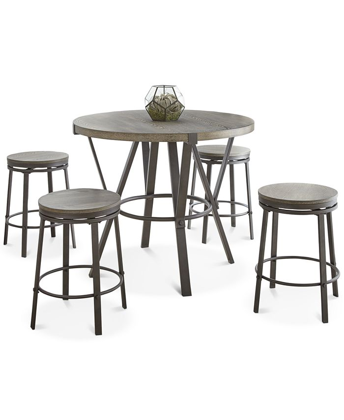 Steve Silver - Portland 5-Pc. Counter Dining Set, (Counter Table & 4 Stools)