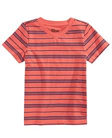 Toddler Boys Short Sleeve V-Neck Striped T-Shirt