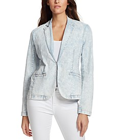 Kaye Denim Kiss-Front Blazer