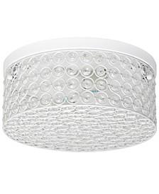 Elegant Designs Elipse Crystal 2 Light Round Ceiling Flush Mount