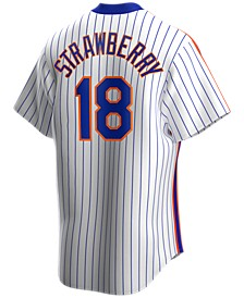 Men's Darryl Strawberry New York Mets Coop Player Replica Jersey