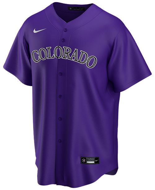 Nike Men's Colorado Rockies Official Blank Replica Jersey