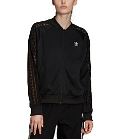 Women's Lace-Trimmed Track Jacket
