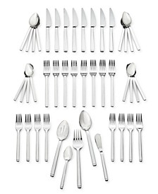 Zwilling Squared 45-PC 18/10 Stainless Steel Flatware Set, Service for 8