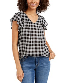 Cotton Flutter-Sleeve Top, Created for Macy's