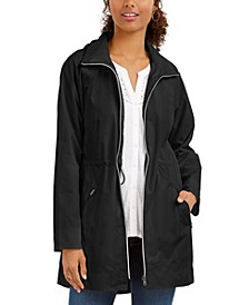 Petite Hooded Anorak Jacket, Created for Macy's