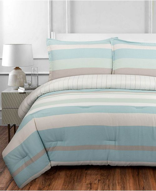 Nouvelle Home Coastal Stripe Twin/Twin XL Comforter Set