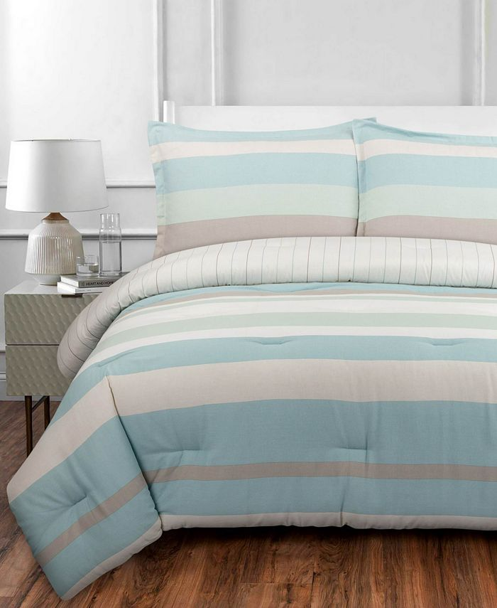 Nouvelle Home - Coastal Stripe Twin/Twin XL Comforter Set