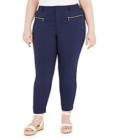 Plus Size Zip-Pocket Skinny Pants